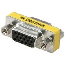 VGA SVGA 15 Pin Female to Female F/F Mini Gender Changer Adapter Connector (2/pk