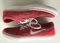 Nike SB Red & White Suede Trainers. Size: 5.5 UK. 38.5 EUR.