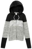 VICTORIA'S SECRET Pink Perfect Full Zip Hoodie Marl Gray Medium NWT