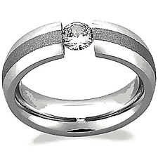 TITANIUM TENSION HIGHLY POLISHED RING WITH BRUSHED ACCENT, sizes 9, 10, 11, 12