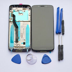 For Motorola Moto G6 Play Touch Screen Digitizer LCD Replacement Frame Assembly