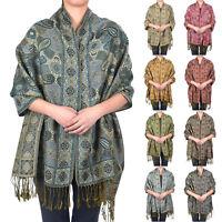 Pashmina Silk Floral Design Super Soft Fashion Scarf Shawl Wrap Multi Color