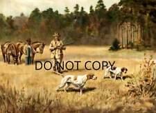 Antique Repro Photograph Print Plantation Quail Hunting English Pointers