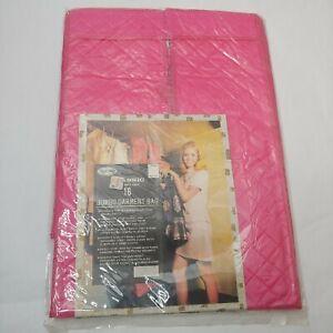 "Vintage Jumbo Garment Bag Action-Lobeco Storage For 16 Up to 54"" Hot Pink Vinyl"