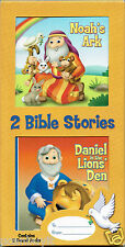 Board Book Bible Set NOAH'S ARK + DANIEL in the LIONS DEN for Tiny Hands Ages 3+