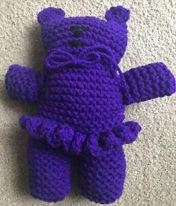 Girl Teddy Bear Stuffed Animal / Crochet Teddy Bear / Handmade Toy