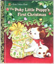 Children's Little Golden Book THE POKY LITTLE PUPPY'S FIRST CHRISTMAS