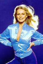 Cheryl Ladd huge cleavage in open blue satin jacket 11x17 Mini Poster C.Angels
