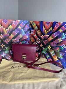 LOUIS VUITTON Monceau BB Epi Leather Fuchsia Handbag
