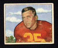BILL DUDLEY  redskins 1950 BOWMAN #29  VERY GOOD  NO CREASES