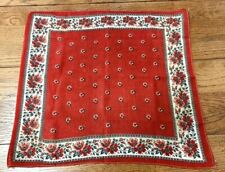 Antique Turkey Red Flowers Links  Handkerchief Bandanna Collection Find