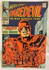 "Daredevil #41, 1968, ""Death of Mike Murdock"""