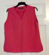 Jacques Vert Ladies Pink Sleeveless V Neck Tunic Top UK Size 18