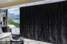 Large Thick Velvet Curtains Stunning Flocking 600x270cm+4m blockout+Hook Black