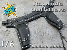 1/6 Black Genuine Leather Ranger Double Holster Best of the West