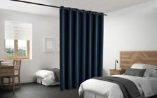 Blackout Room Divider Curtain Panel Privacy Screen Thermal Insulated Navy Color