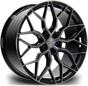 """Alloy Wheels 21"""" Riviera RF108 Black Face For BMW 5 Series GT F07 09-17"""