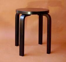 Artek E60 Hocker - Birke - schwarz - gebrauchte Designermöbel