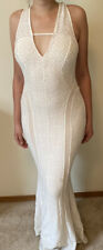 GUESS Womens White Ivory Long Party Dress Sleeveless Backless Bodycon Size M