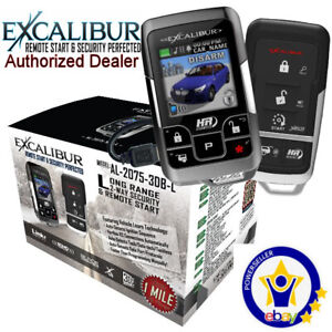 Excalibur AL-2075-3DBLColor 2-Way Vehicle Security & Remote Start system 1mile