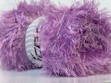 LG 100 gram Lilac Eyelash Yarn Ice Light Purple Fun Fur 164 Yards 22728