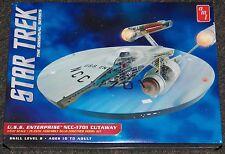 AMT 891  Star Trek USS Enterprise NCC-1701 cutaway W/ interior model kit 1/537