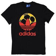 Adidas Originals Adi Trefoil Football Country tee Shirt Black Red Yellow Xs S M
