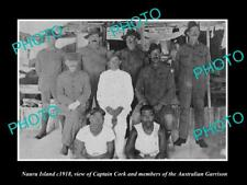 OLD LARGE HISTORIC PHOTO OF NAURU ISLAND, VIEW OF THE AUSTRALIAN GARRISON c1918