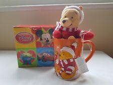 Disney Store Winnie The Pooh Christmas Mug & Plush Boxed