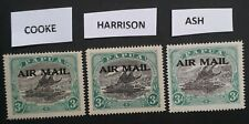 RARE 1916- Papua 3x3d Lakatoi Airmail stamps different printing types Mint