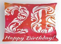 20th Birthday Pillow Sham Decorative Pillowcase 3 Sizes Bedroom Decor