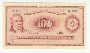 Denmark 100 kroner 1961 replacement circ. @ low start