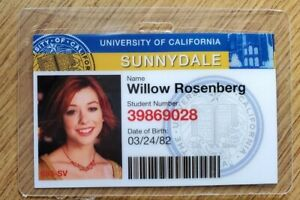 Buffy Vampire Slayer Id Badge-Sunnydale Weide Rosenberg Kostüm Cosplay