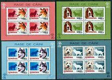 2001 Dogs,Collie,Husky,Shepherd,Basset,Hunde,Chiens,Cani,Romania,Mi.5574,KB,MNH