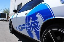 Vinyl Graphics Decal Wrap Kit MOPAR Side Race fits 2008-16 Dodge Challenger BLUE