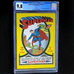 Superman Masterpiece Edition #1 (DC 1999) 💥 CGC 9.8 💥 Rare Superman 1 Reprint!