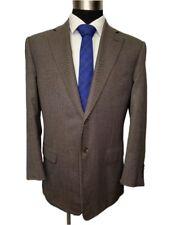 $895 Pal Zileri Mens Brown Wool Italian Made Sport Coat Blazer 42R