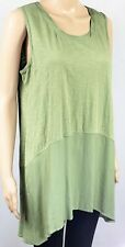 Logo by Lori Goldstein Loose Fit Cotton Sleeveless Top, Size M