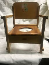Vintage Oak Hill Collapsible Wooden Potty Chair Baby Mouse