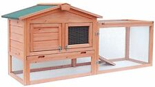 ALEKO Wooden Cage Wooden Pet House Poultry Hutch Rabbits Chickens