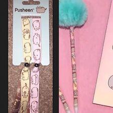 Primark Pusheen Set 2 Fabric Friendship Festival Bracelets AND Pom Pen Bundle
