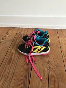 Heelys Girls' Propel 2.0 Rollen Sneaker Black Neon Pink Gr. 12 UK/ 31 EU Mädchen