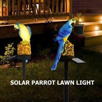 Solar Power LED Papagei Rasen Licht wasserdicht Garten Landschaft Lampe Licht DE