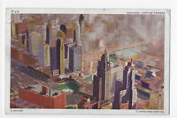 Chicago City of Towers Chicago Aerial Survey Co. Postcard