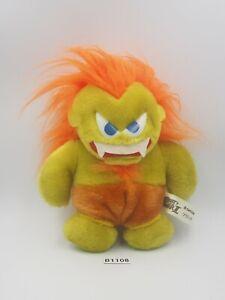 """Street Fighter II B1108 BLANKA Capcom Plush 7"""" Stuffed Toy Doll Japan"""