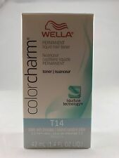 Wella Color Charm Permanent Hair Toner - T14 Pale Ash Blonde + Free Shipping