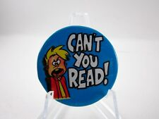 Vintage 1970's Comic Cartoon Pinback Humor Hippie Peace Era Button Pin  ~L@@K~