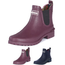 Ladies Barbour Wilton Chelsea Closed Toe Pull On Wellies Ankle Boots All Sizes