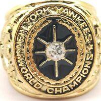 USA New York Yankees 1923 World Series Championships Gold Ring Mens Sizes 8-14