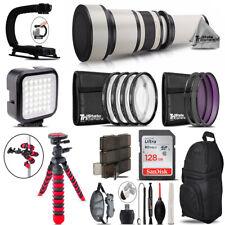 650-1300mm Telephoto Lens Nikon D3100 D3200 - Video Kit + Backpack + 128GB